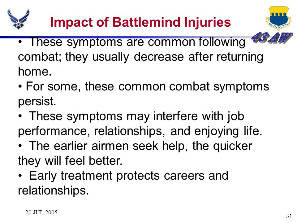 Impact of Battlemind Injuries