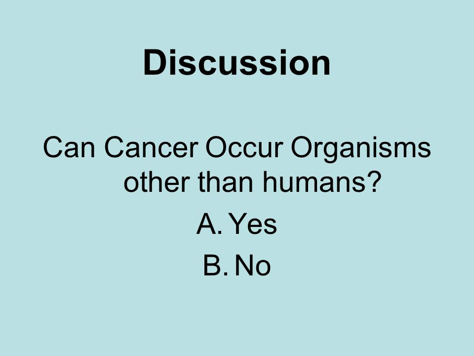 Can Cancer Occur Organisms other than humans