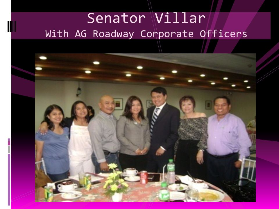 Senator Villar With AG Roadway Corporate Officers