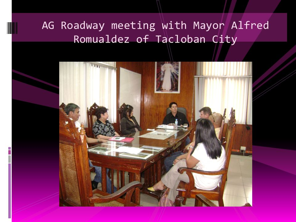 AG Roadway meeting with Mayor Alfred Romualdez of Tacloban City