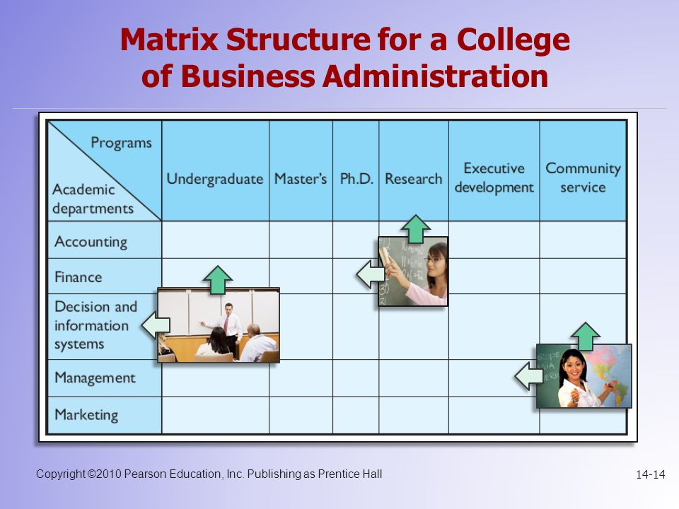 Matrix Structure for a College of Business Administration