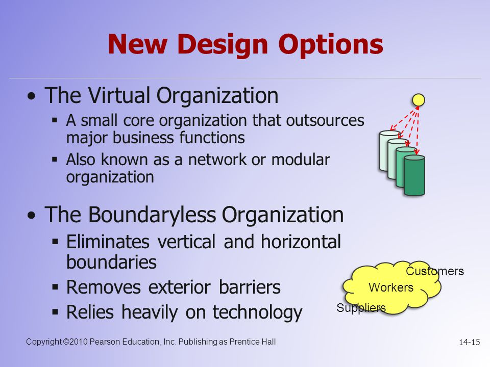 New Design Options The Virtual Organization