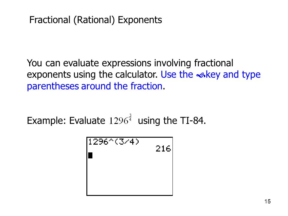 Fractional (Rational) Exponents
