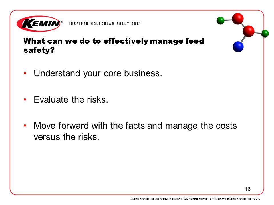 What can we do to effectively manage feed safety