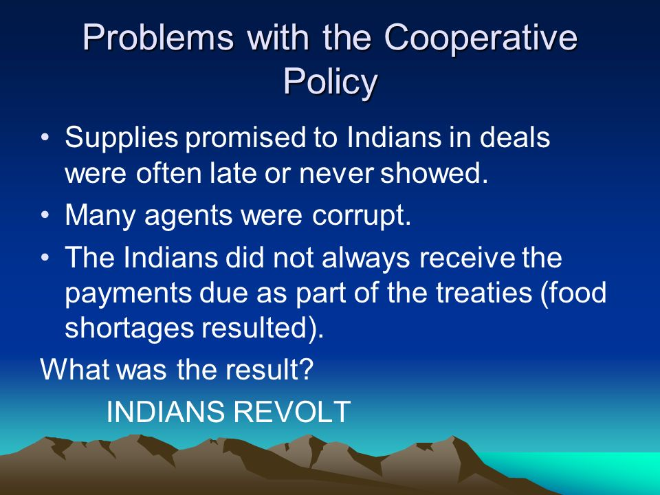Problems with the Cooperative Policy