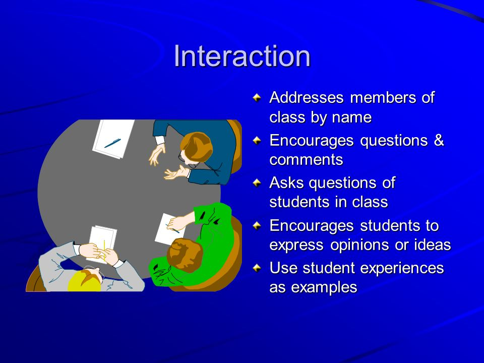 Interaction Addresses members of class by name