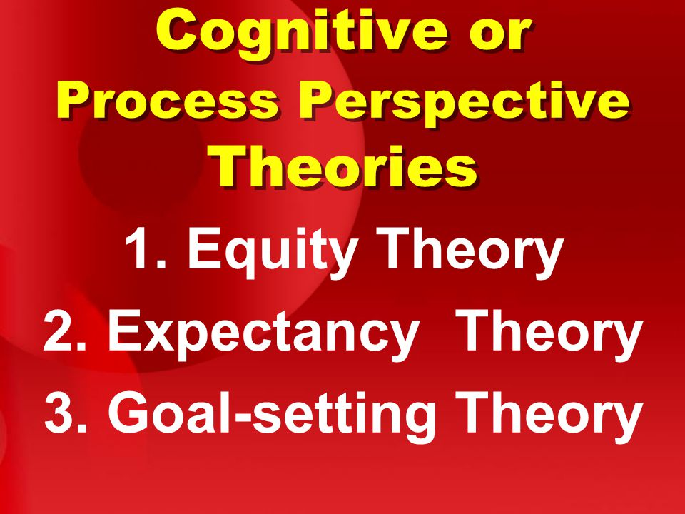 Cognitive or Process Perspective Theories