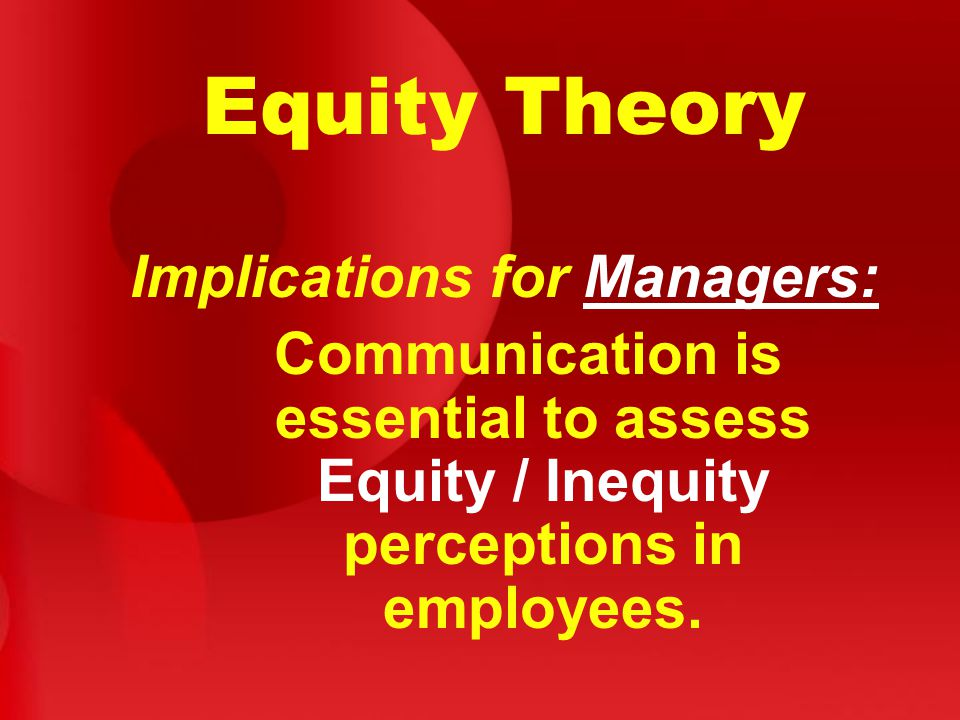 Implications for Managers: