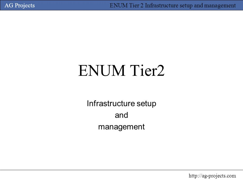 Infrastructure setup and management