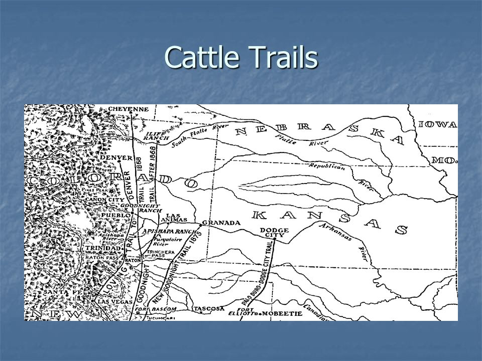 Cattle Trails http://history.oldcolo.com/oldtown/maps/cattle.html