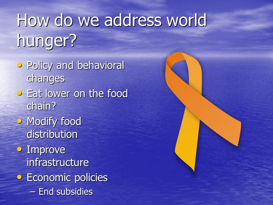 How do we address world hunger