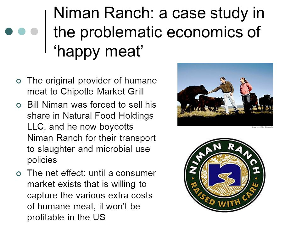 Niman Ranch: a case study in the problematic economics of 'happy meat'