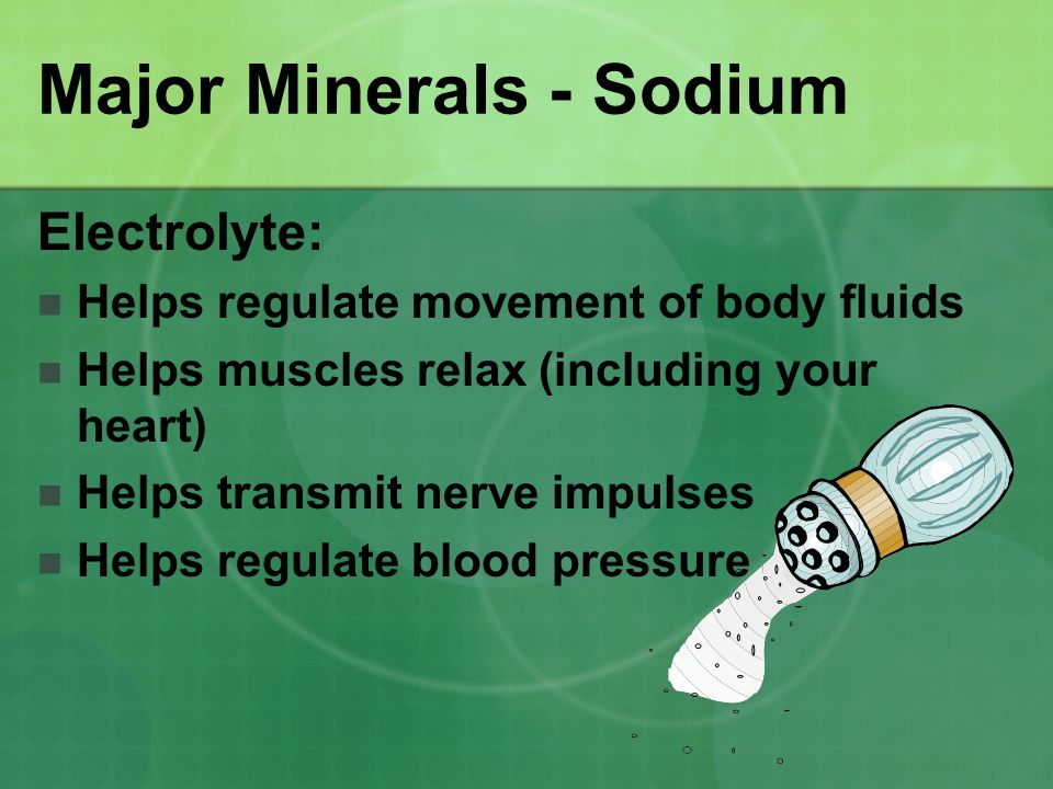 Major Minerals - Sodium