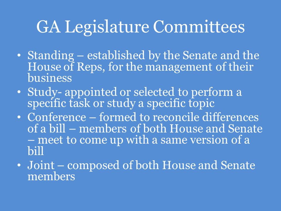 GA Legislature Committees
