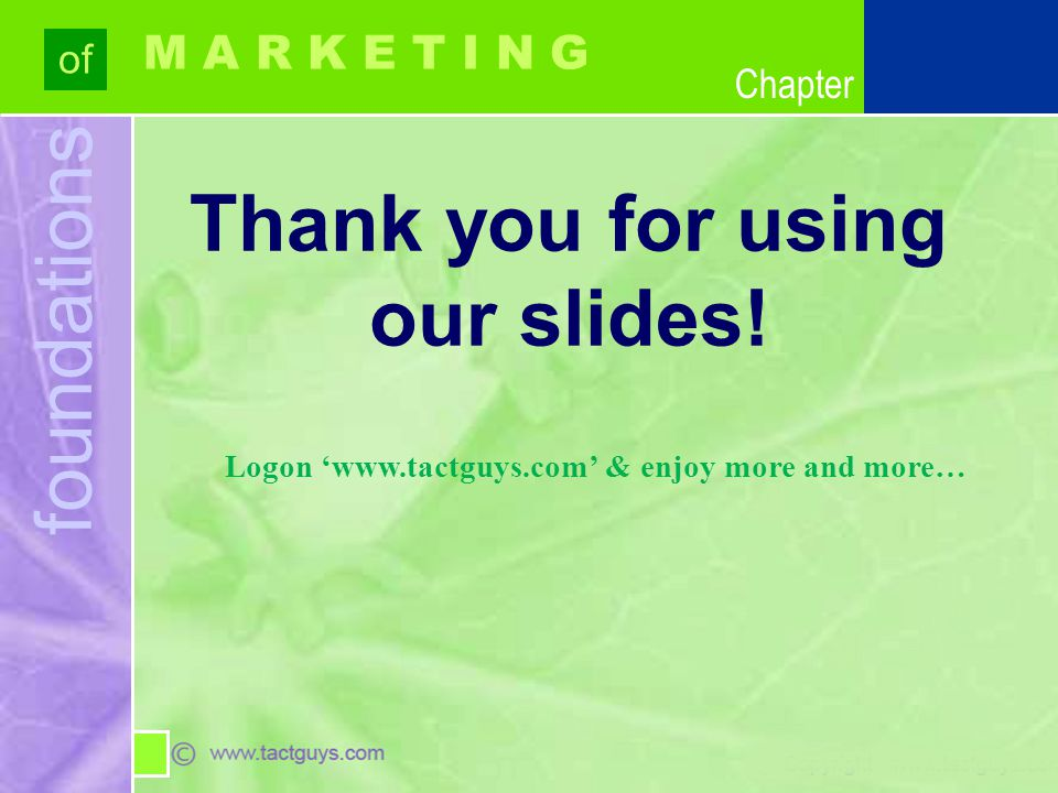 Thank you for using our slides!
