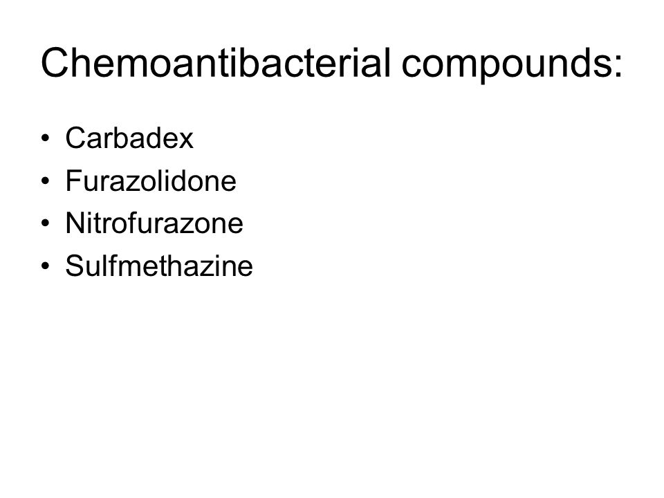 Chemoantibacterial compounds: