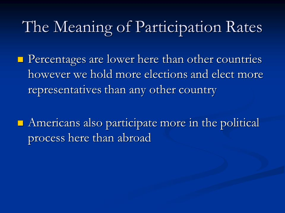 The Meaning of Participation Rates