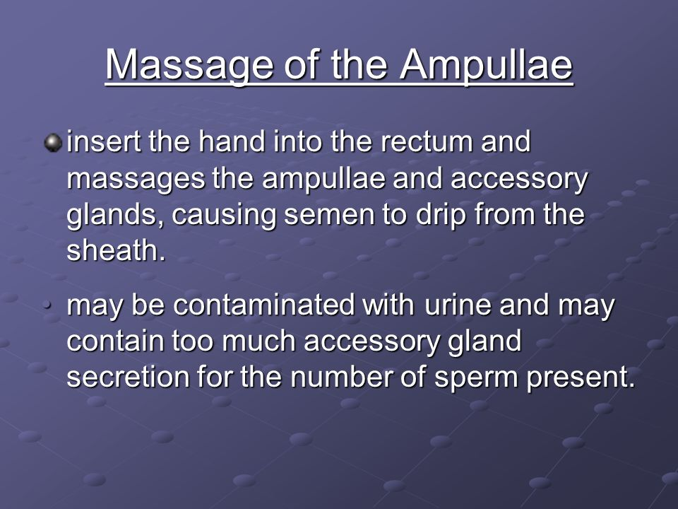 Massage of the Ampullae