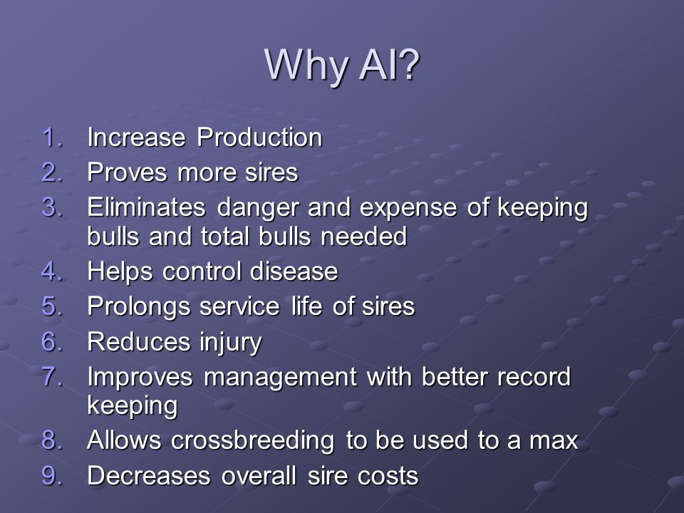 Why AI Increase Production Proves more sires