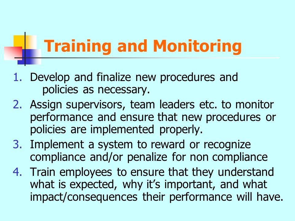 Training and Monitoring