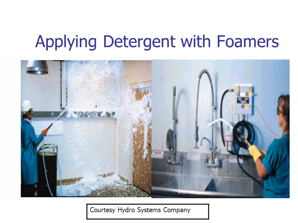 Applying Detergent with Foamers