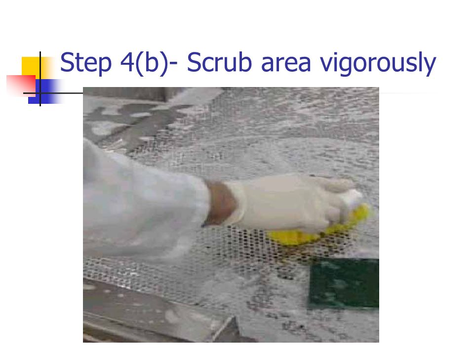 Step 4(b)- Scrub area vigorously