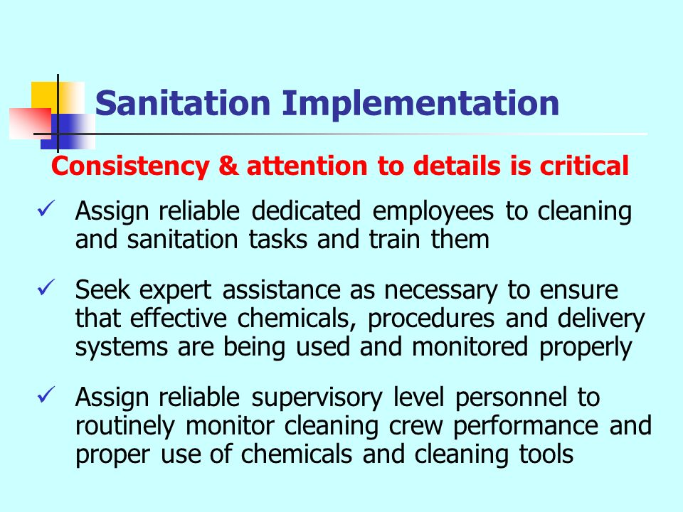 Sanitation Implementation