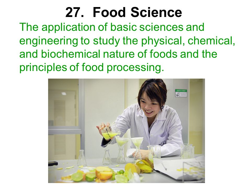 27. Food Science
