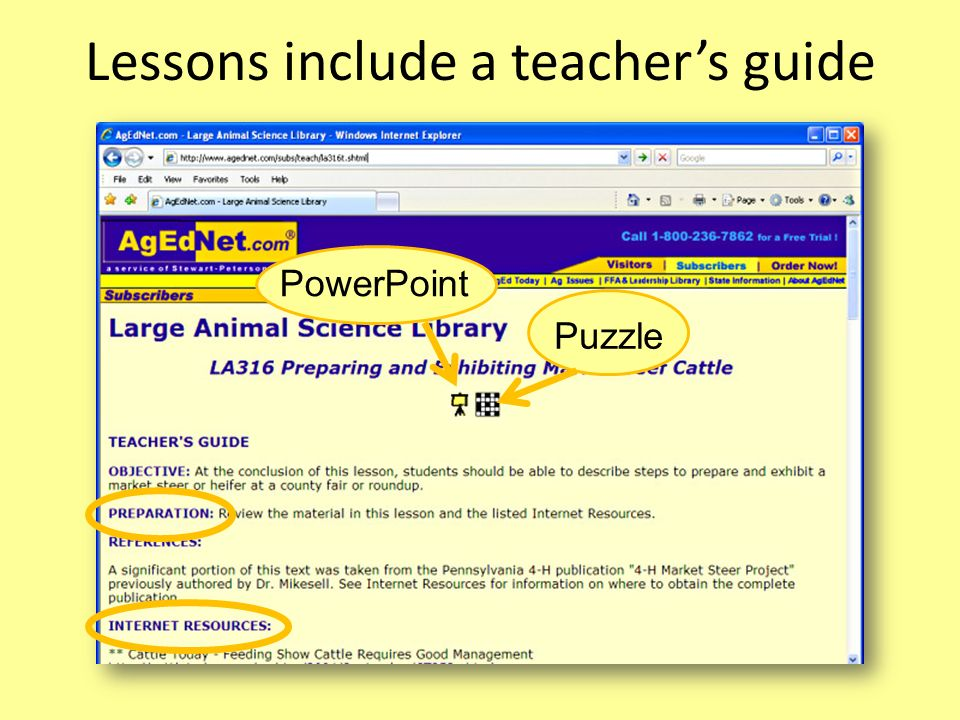 Lessons include a teacher's guide