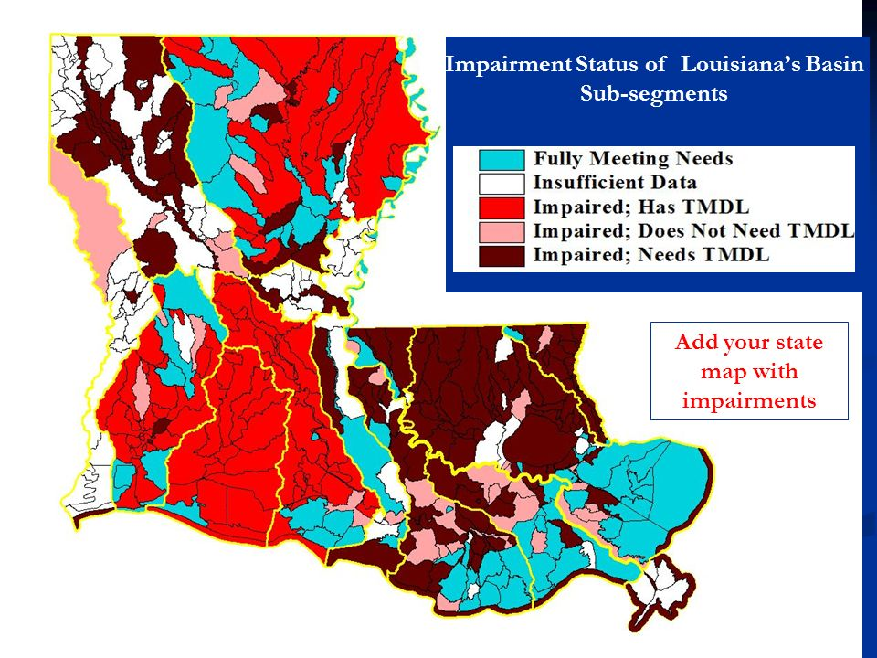 Impairment Status of Louisiana's Basin Sub-segments