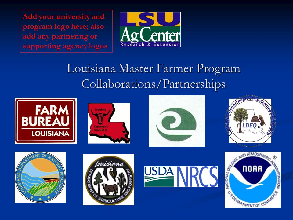 Louisiana Master Farmer Program Collaborations/Partnerships