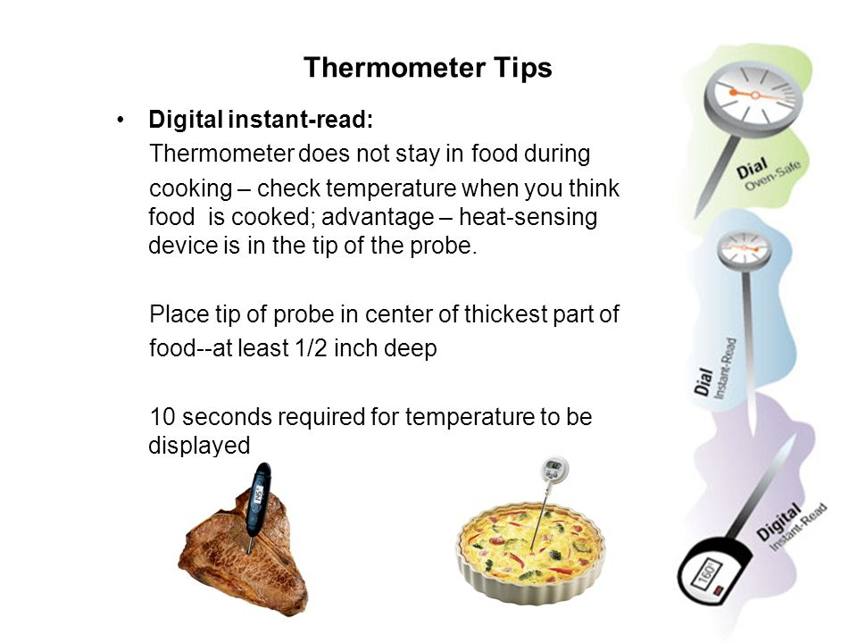 Thermometer Tips Digital instant-read: