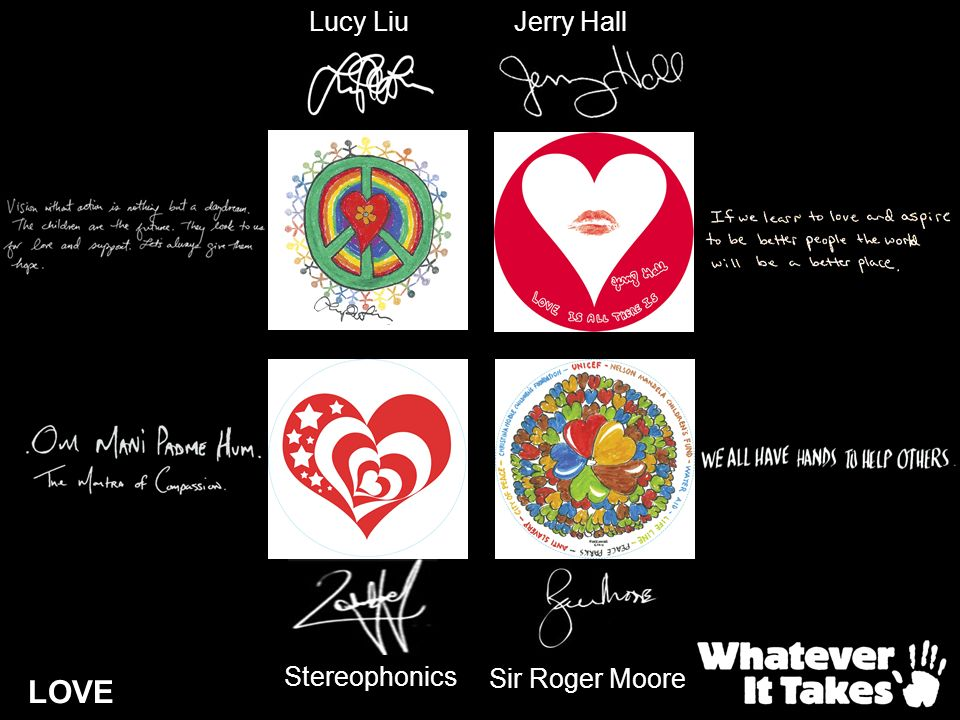 Lucy Liu Jerry Hall Stereophonics Sir Roger Moore LOVE