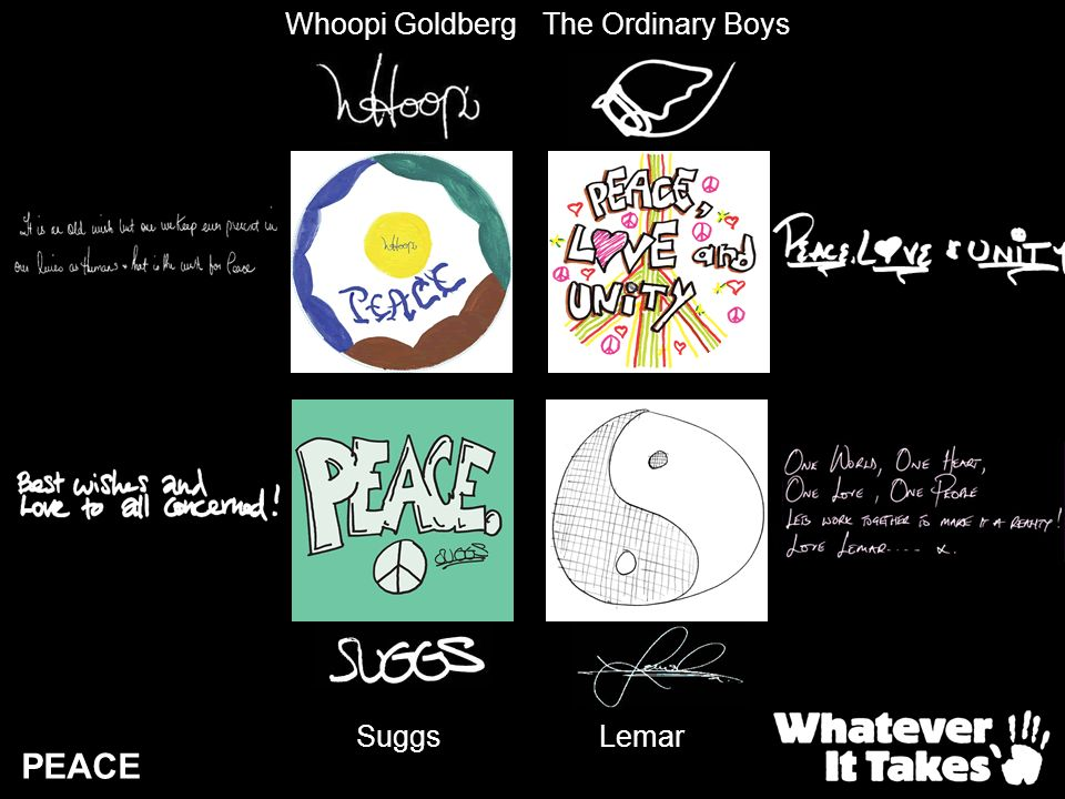 Whoopi Goldberg The Ordinary Boys Suggs Lemar PEACE