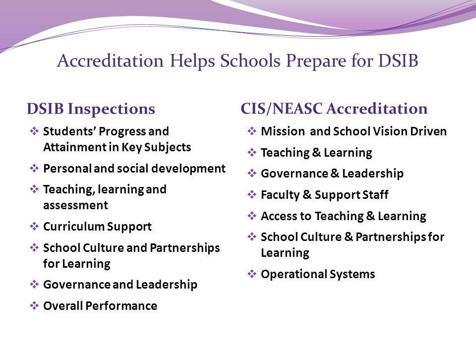 Accreditation Helps Schools Prepare for DSIB