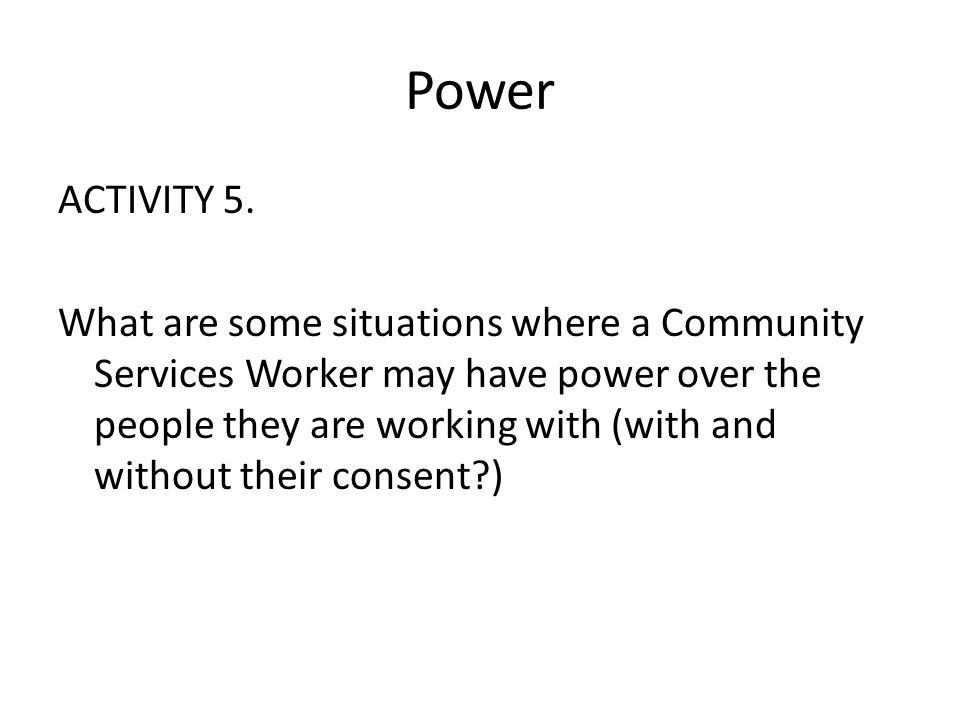 Power ACTIVITY 5.