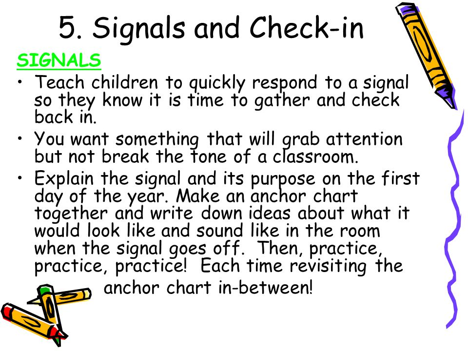 5. Signals and Check-in SIGNALS