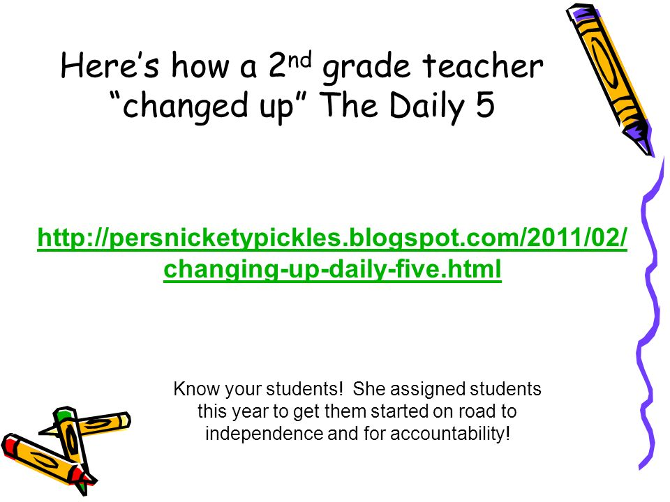 Here's how a 2nd grade teacher changed up The Daily 5