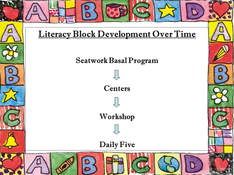Literacy Block Development Over Time Seatwork Basal Program