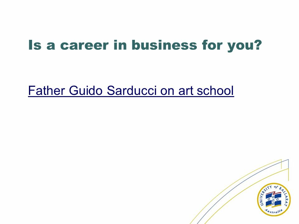 Is a career in business for you