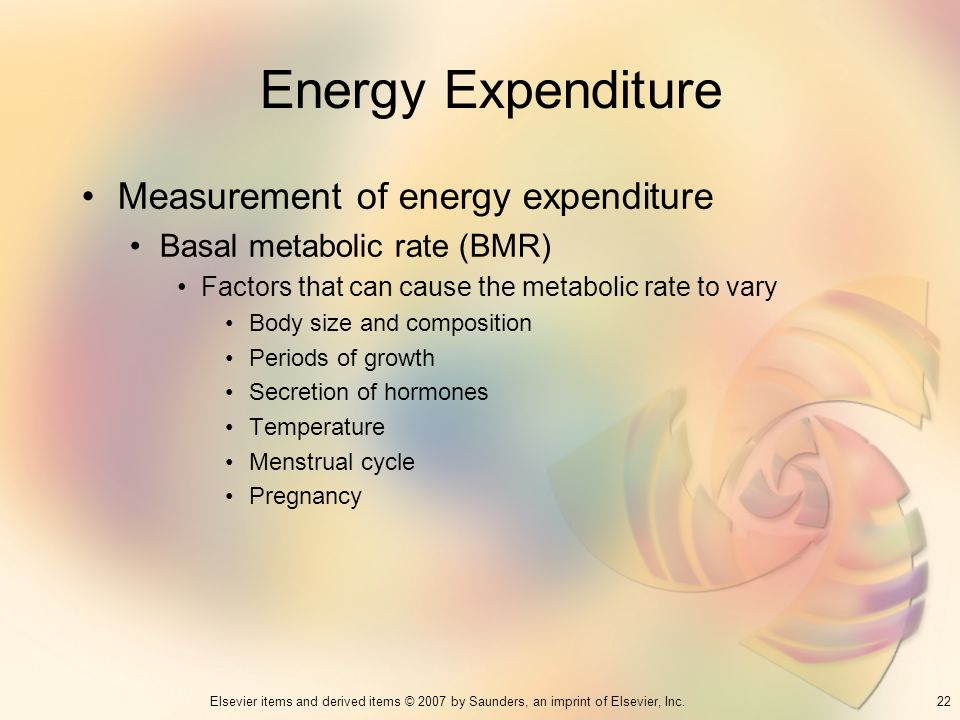 Energy Expenditure Measurement of energy expenditure