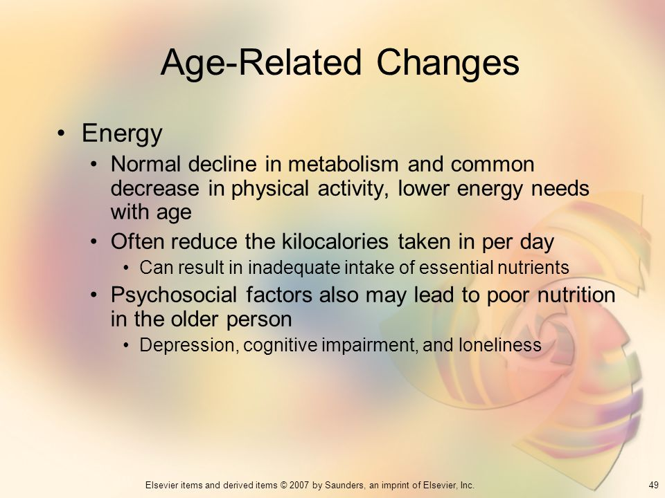 Age-Related Changes Energy