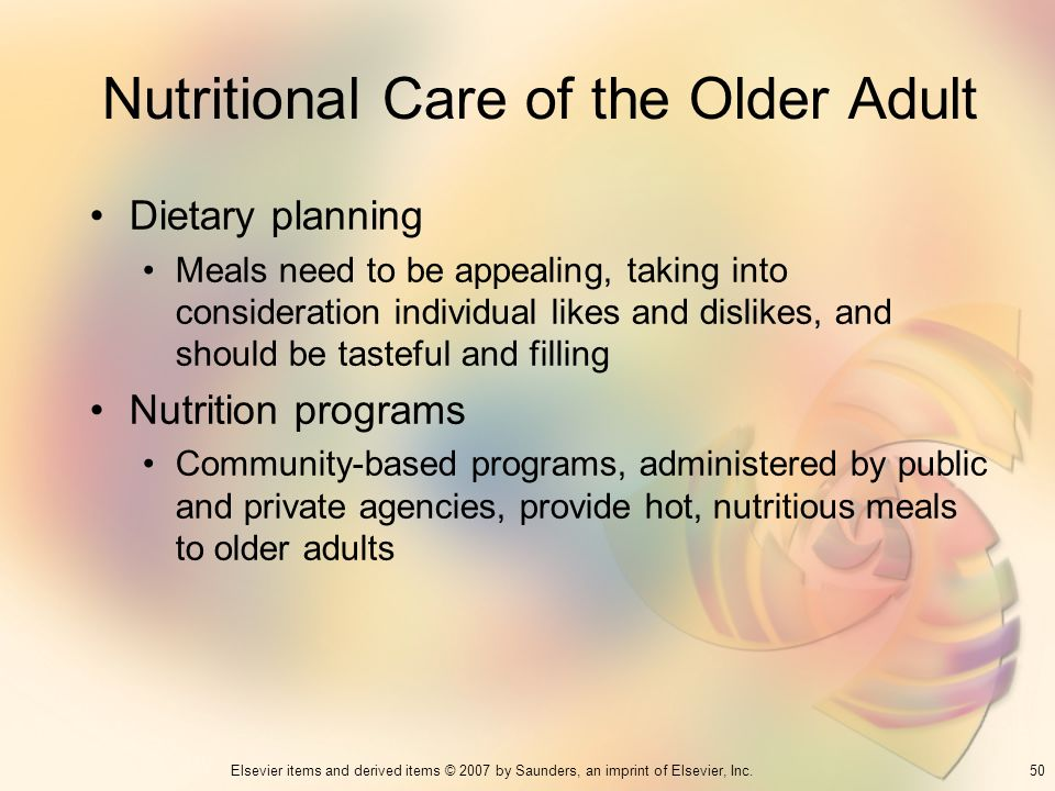 Nutritional Care of the Older Adult