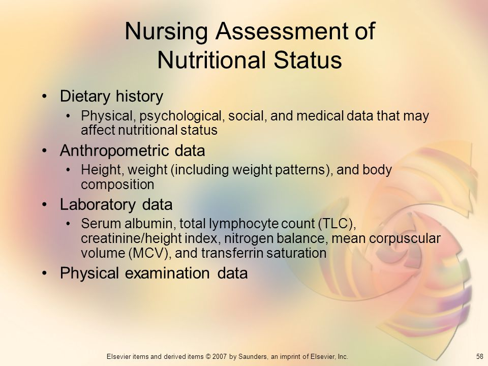 Nursing Assessment of Nutritional Status