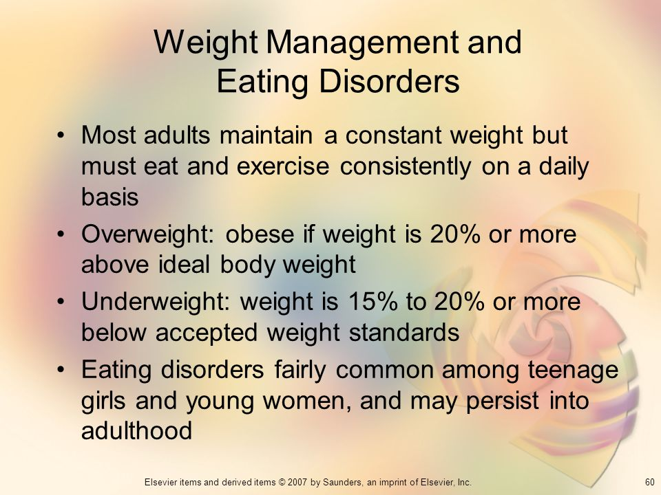 Weight Management and Eating Disorders