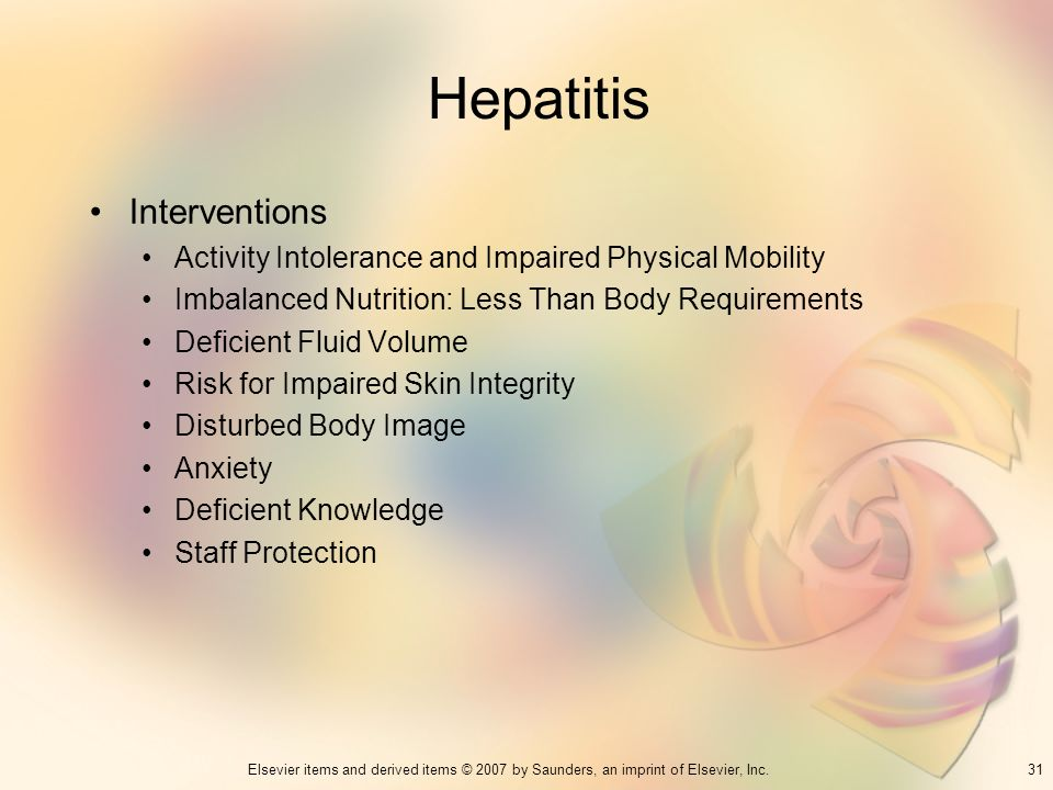 Hepatitis Interventions