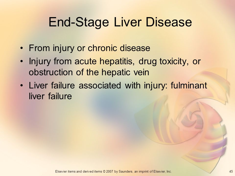 End-Stage Liver Disease