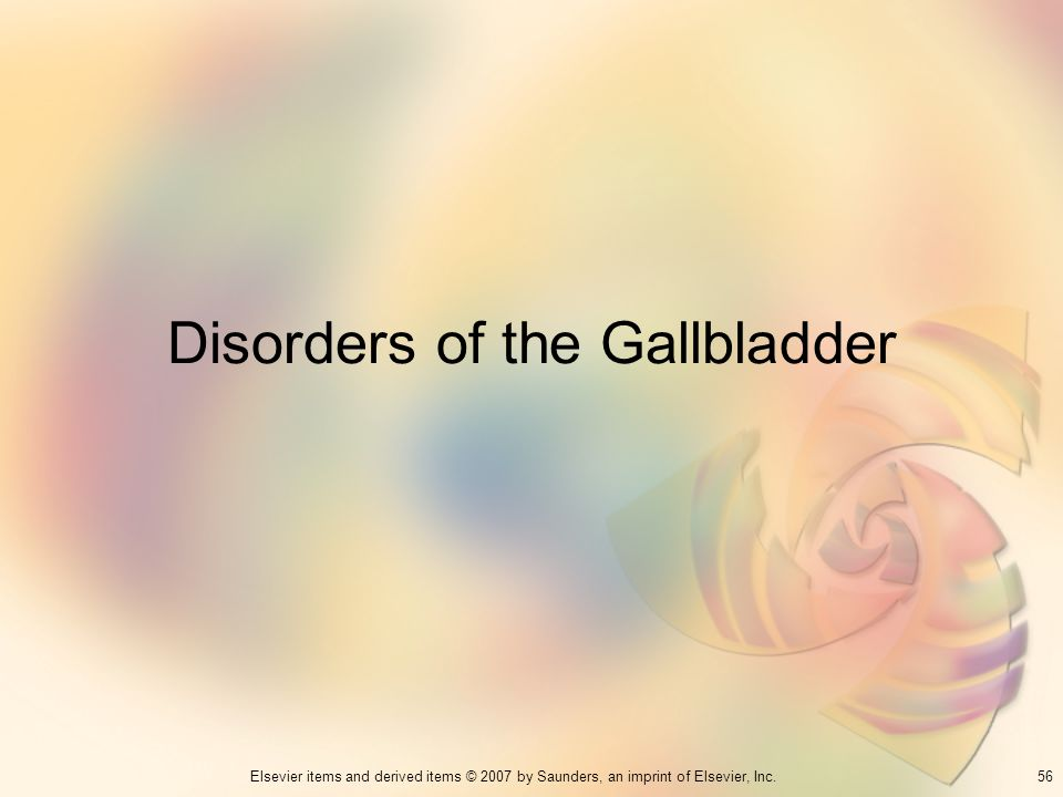 Disorders of the Gallbladder