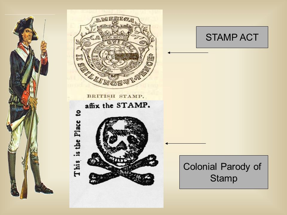 STAMP ACT Colonial Parody of Stamp