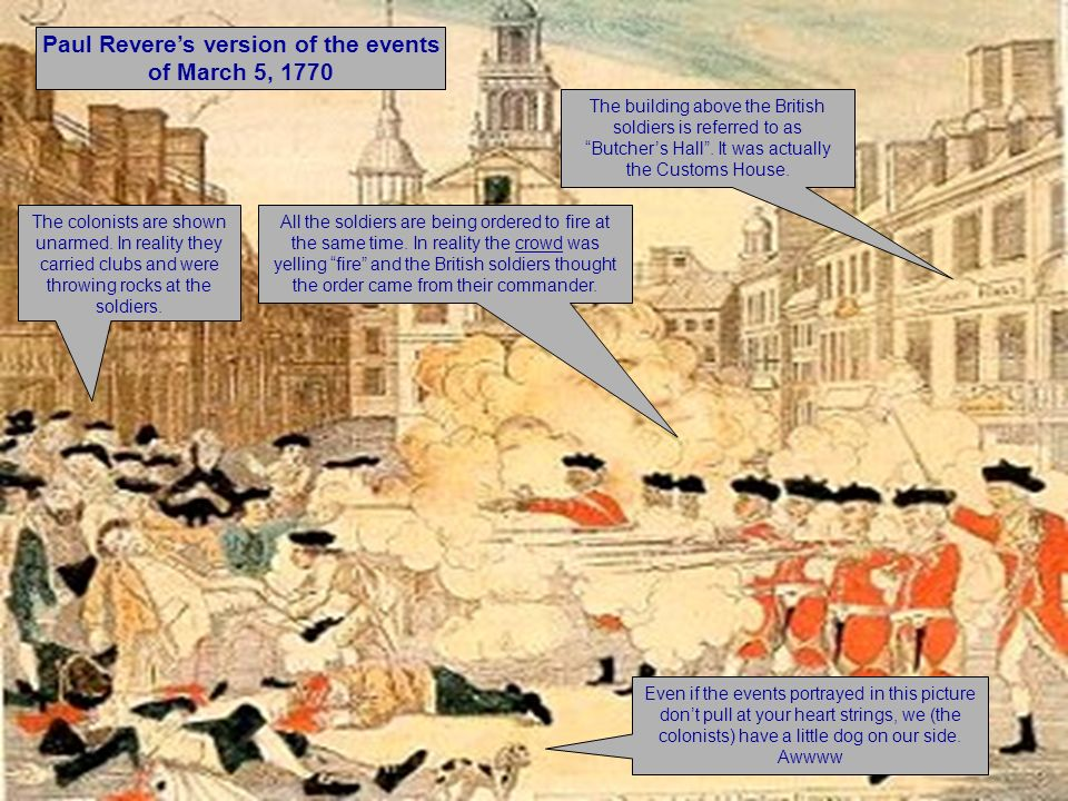Paul Revere's version of the events